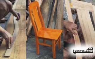 Технология изготовления стула из дерева