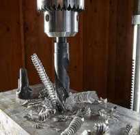 Технология сверления отверстий в металле