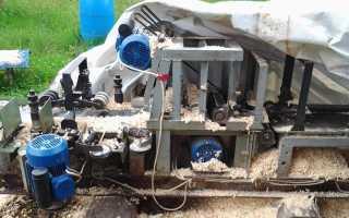 Четырехсторонний деревообрабатывающий станок видео