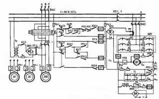 Электросхемы деревообрабатывающих станков
