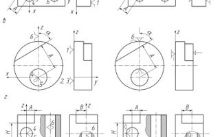 Схемы базирования заготовок в приспособлениях